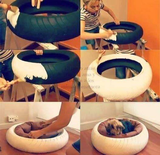 18 id es diy de paniers pour chiens et chats. Black Bedroom Furniture Sets. Home Design Ideas