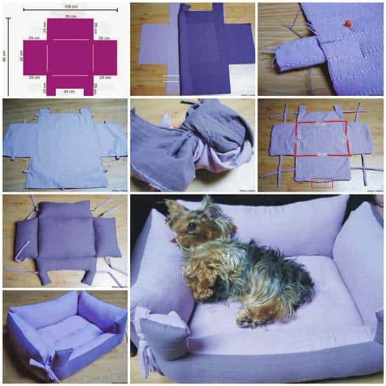 18 id es diy pour r aliser toi m me un panier pour chien ou chat. Black Bedroom Furniture Sets. Home Design Ideas
