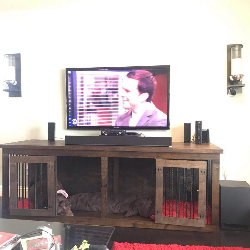 cage télé meuble