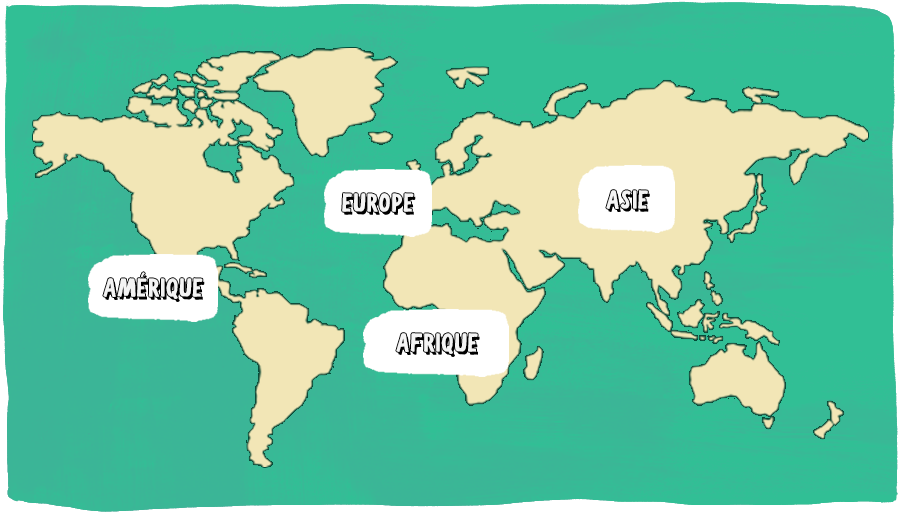 carte monde volontariat