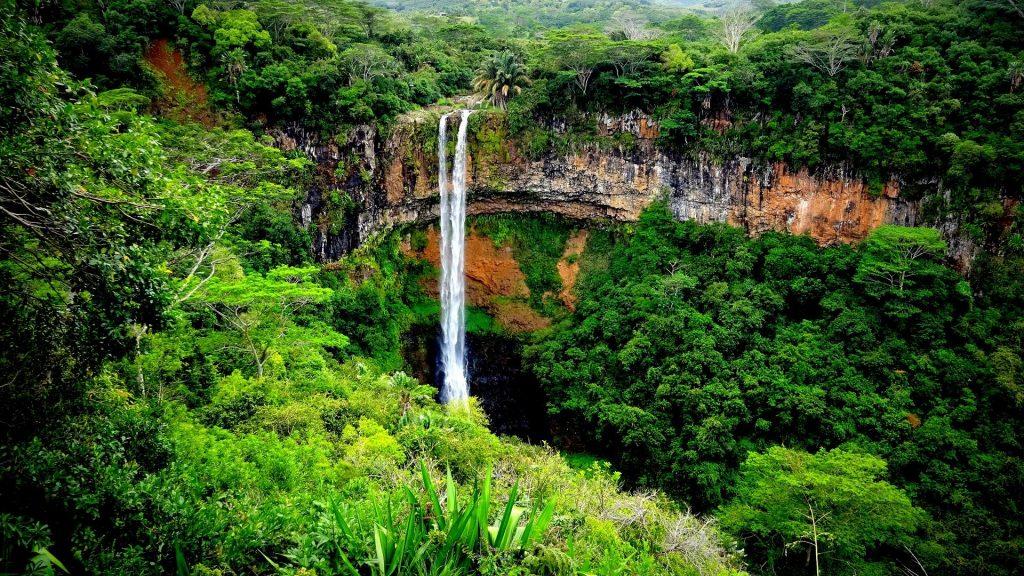 Chute d'eau à l'île Maurice