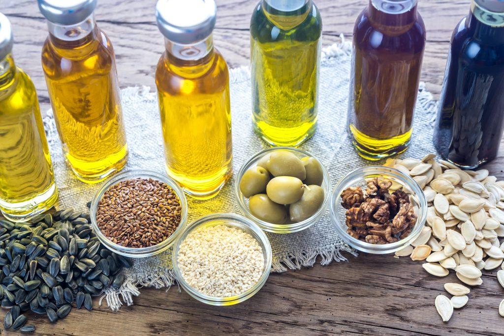 Flacons d'huiles végétales