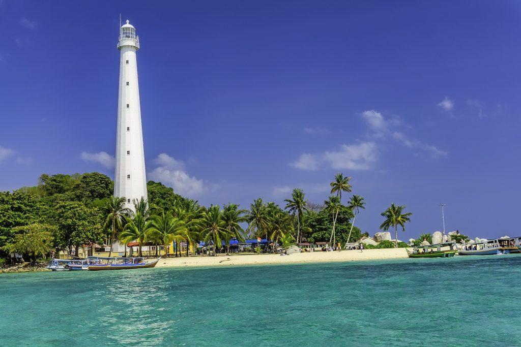 Île de Lengkuas en Indonésie