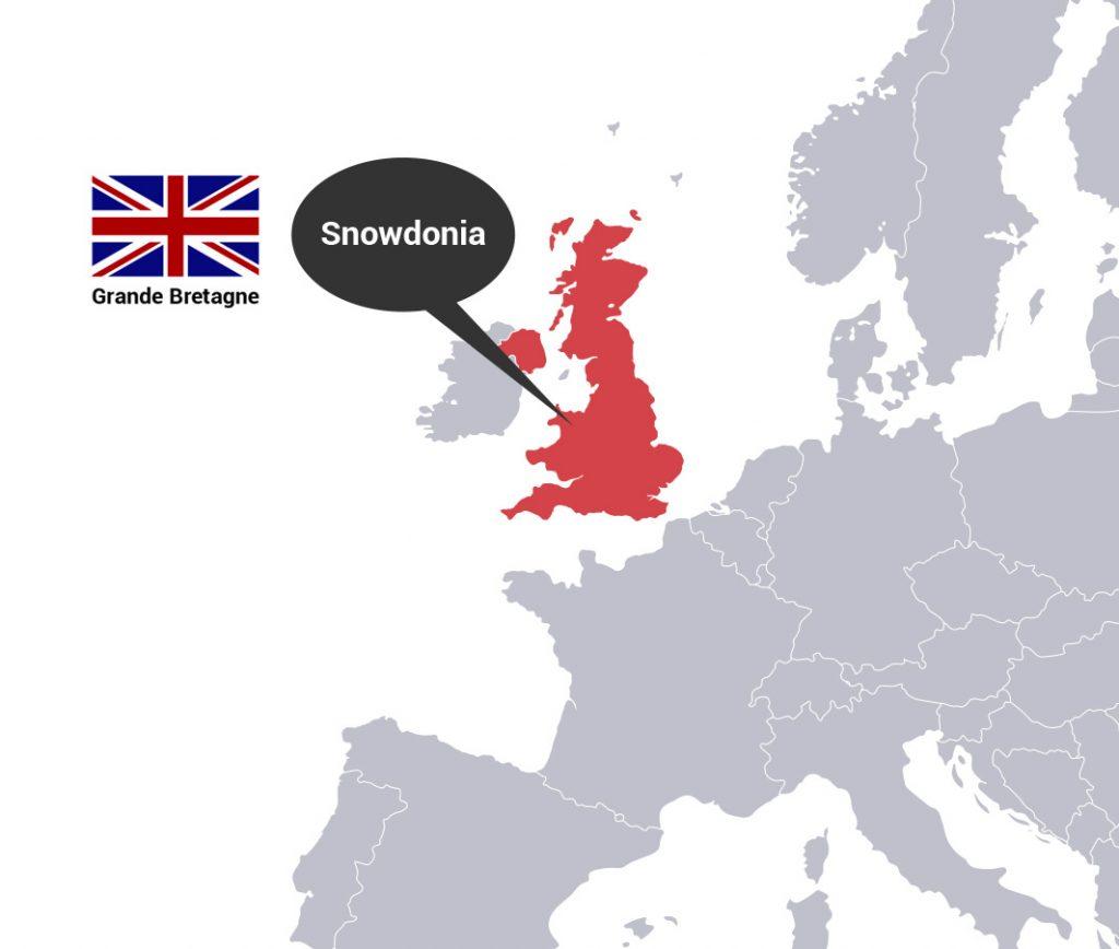 carte europe snowdonia