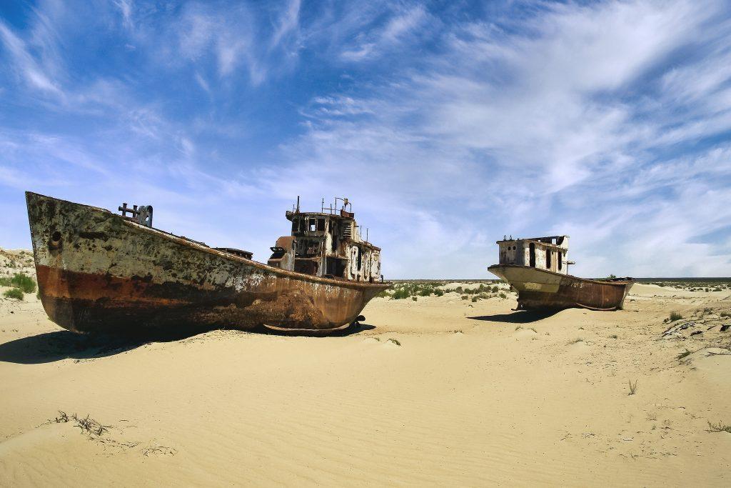 Mer d'Aral déséchée