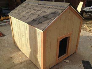 niche pour chien maison bois