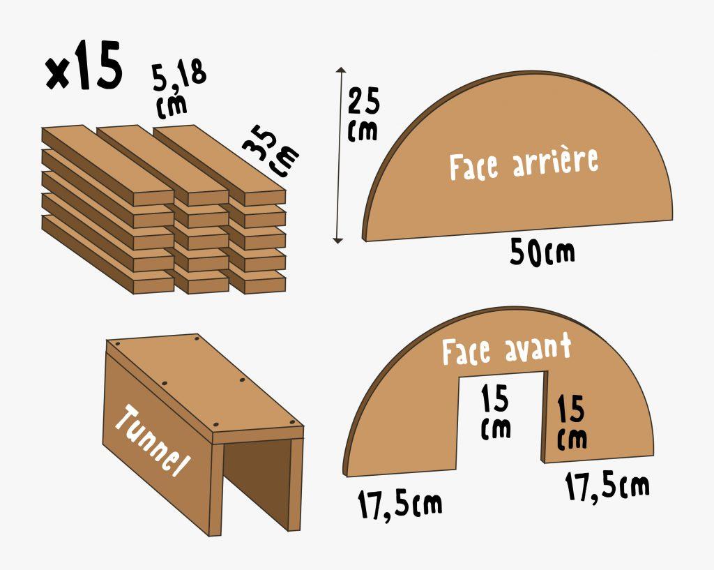 Plans pour construire une maison pour hérissons en bois