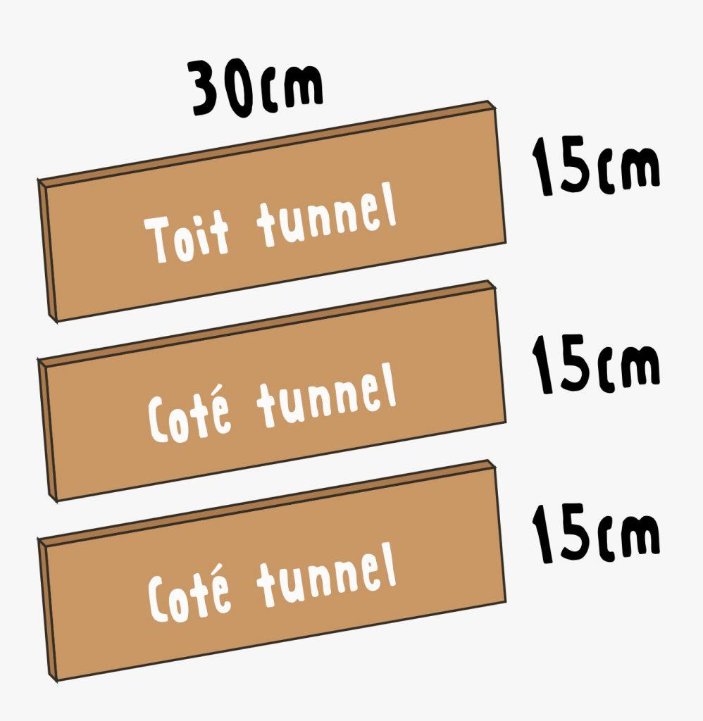 plan pour créer un tunnel en bois pour hérisson